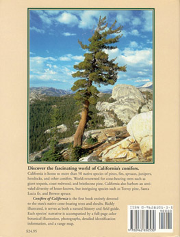 Conifers of California - Back Cover